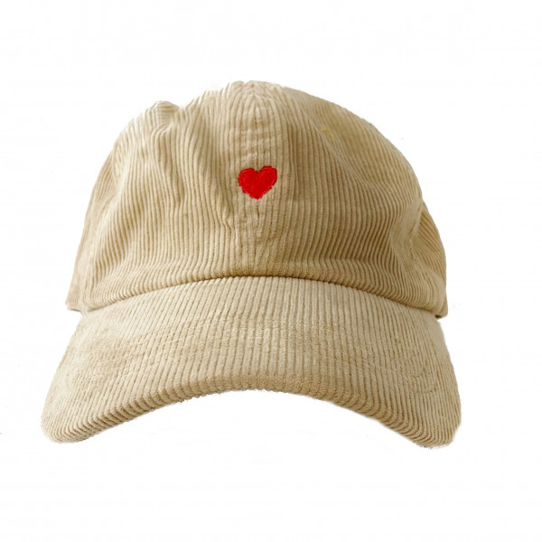 The Icon Cap - Heart Corduroy